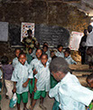 St Margaret Life's Hope - the inside of the make shift classroom in Lamu