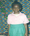 St Margaret Life's Hope Winnie a local orphan who has received aid to stay in school
